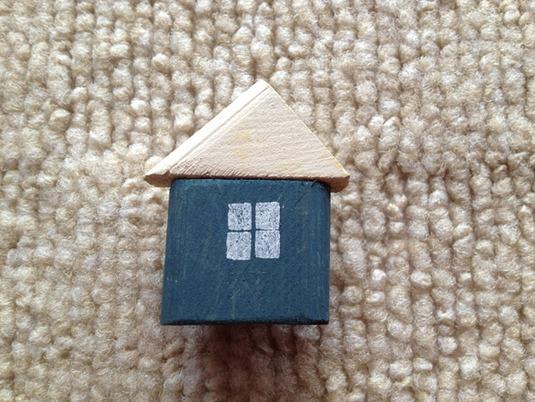 木製 ハウスマグネット