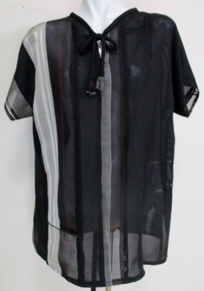 送料無料 絽と夏の着物で作ったプルオ...