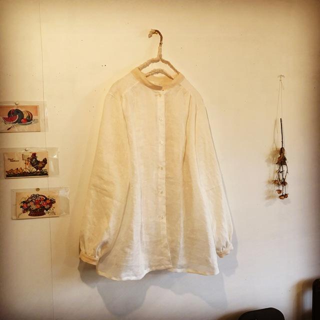 リネン☆スタンドカラーのシャツ(o-to-...