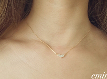 Zirconia  Heart Gold Necklace