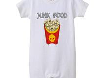 [ロンパース]  skull French fries / Collar