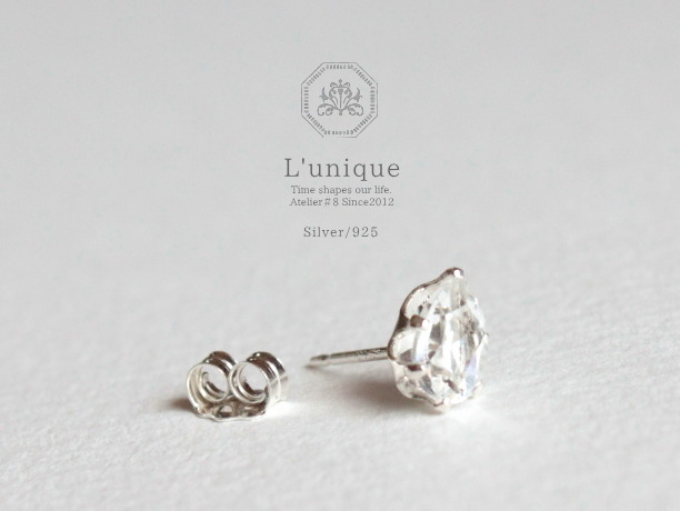 L'unique/Silver925ピアス・トパーズFor Men and Women