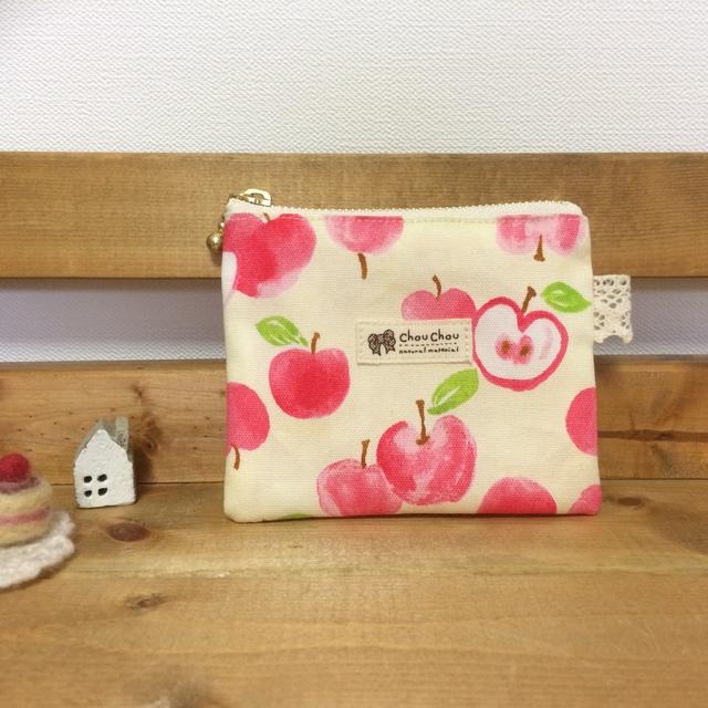 幸せりんごのフラットポーチ**カードケ...