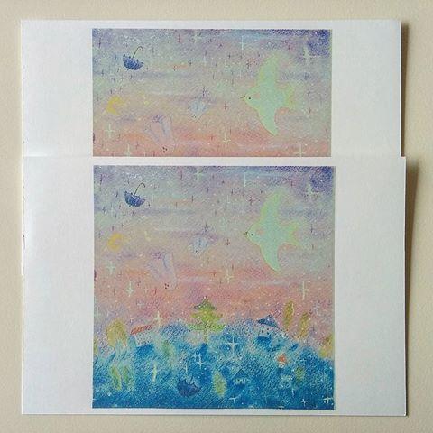 oyasuminasaiポストカード2枚セット