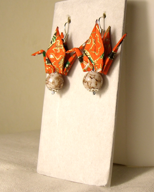 オリガミピアス鶴(Tsuru 01T3CAr)