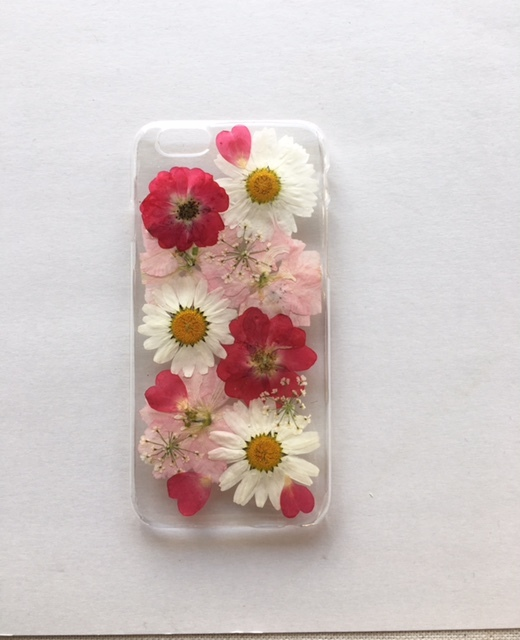 <再販> iphone6/6S  赤い薔薇の押し花...