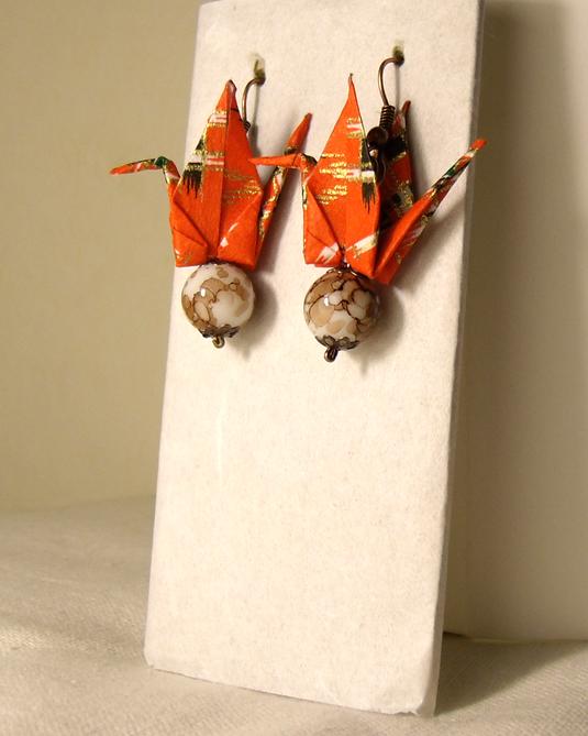 オリガミピアス鶴(Tsuru 04T3CBr)