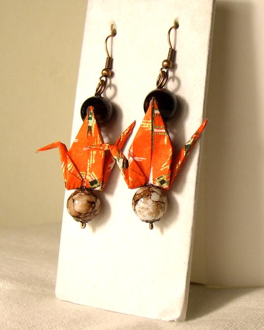 オリガミピアス鶴(Tsuru 04T3LBr)