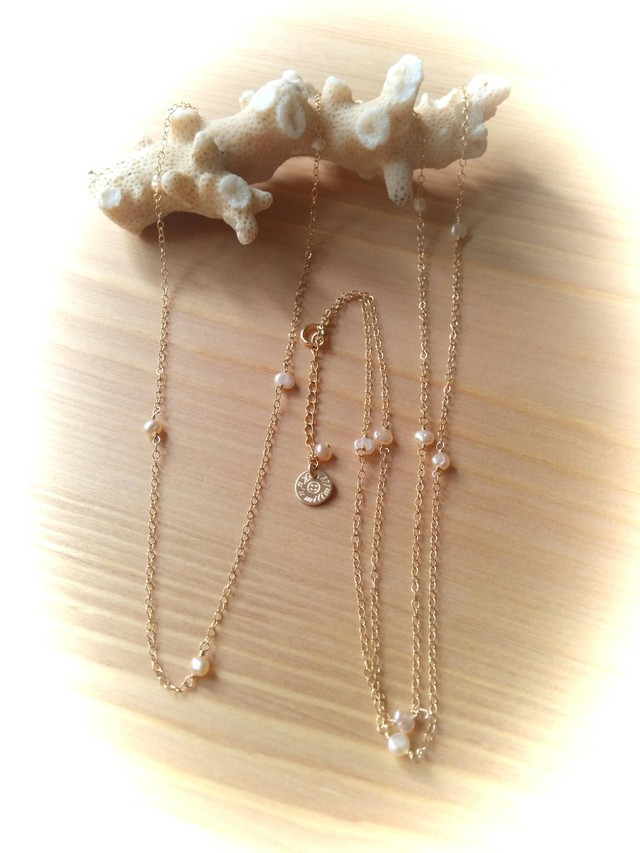 【再販】*14kgf* Freshwater pearl Long Necklace