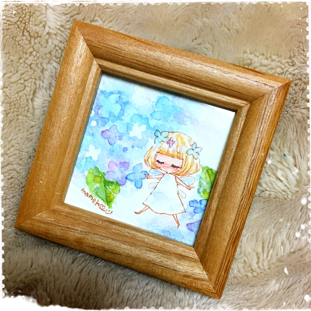 ミニ原画*紫陽花