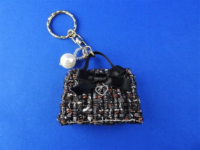 バッグ型キーホルダー(黒)