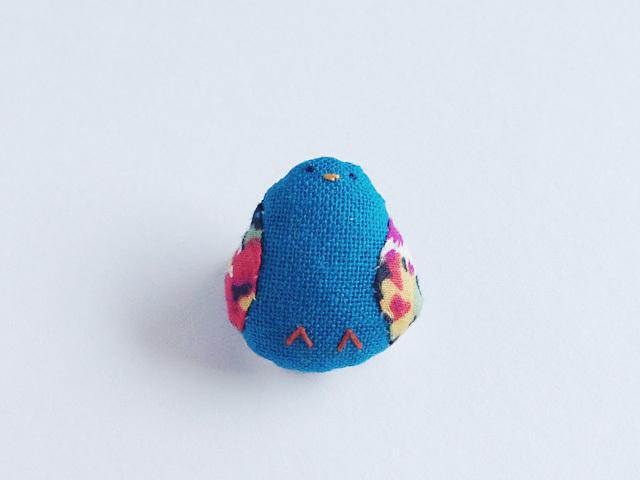 小鳥のブローチ(青緑)