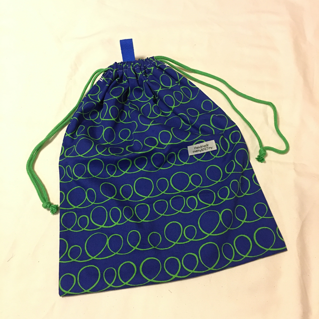 入園入学お着替え袋#くるくるボーダー
