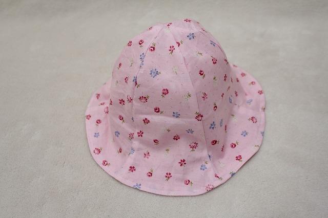 子ども帽子 チューリップハット(花柄)