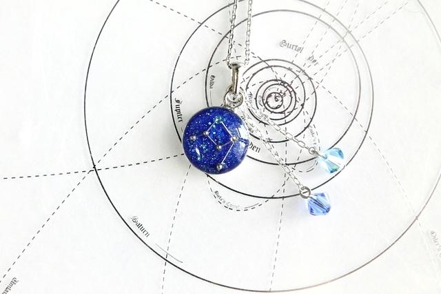 てんびん座−星空ペンダント『星鏡』