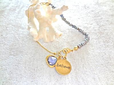 Believe〜アメシストシャネルストーンのブレスレット