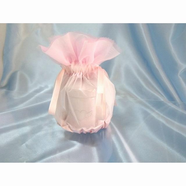 覆い袋(骨壷カバー) 骨壷セット 2,3寸(約9.7cm) エンジェルハート ピンク