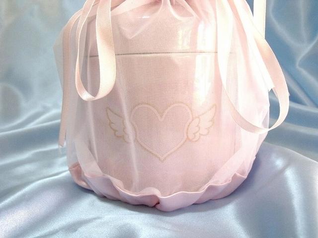 覆い袋(骨壷カバー) 骨壷セット 4寸(約15.1cm) エンジェルハート ピンク