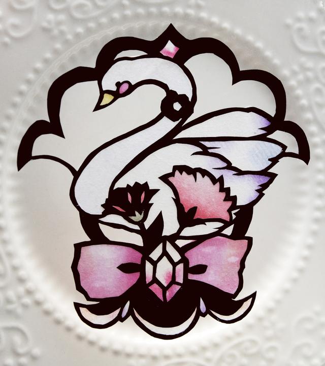 【切り絵キット】母の日の白鳥切り絵