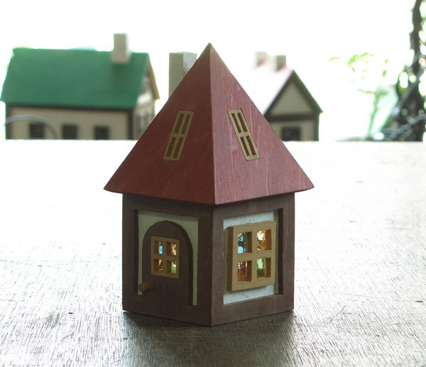 木とガラスの小さな家(緑)送料無料