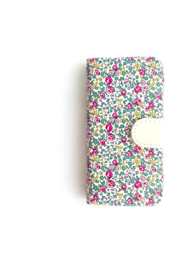 リバティiphone7手帳型ケース(エロイー...