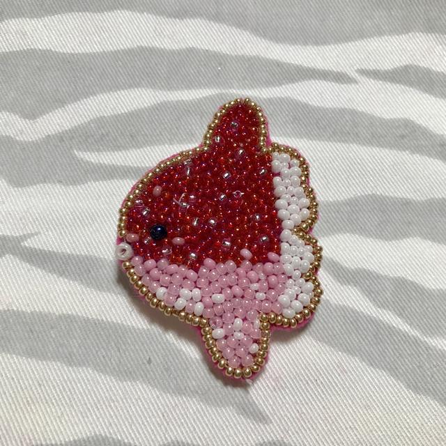 小ちゃいマンボウさんブローチ   ピンク