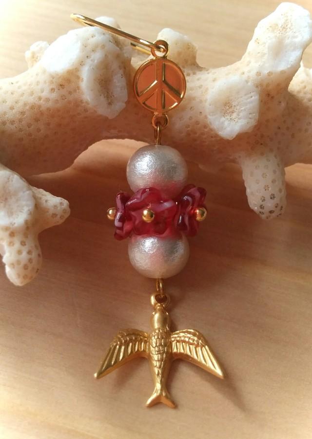 *�Ҽ���*Peace Flower �ԥ��� (Red Marble)