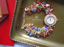 【今だけSALE★ラスト1点】elegant volume bijoux bracelet watch