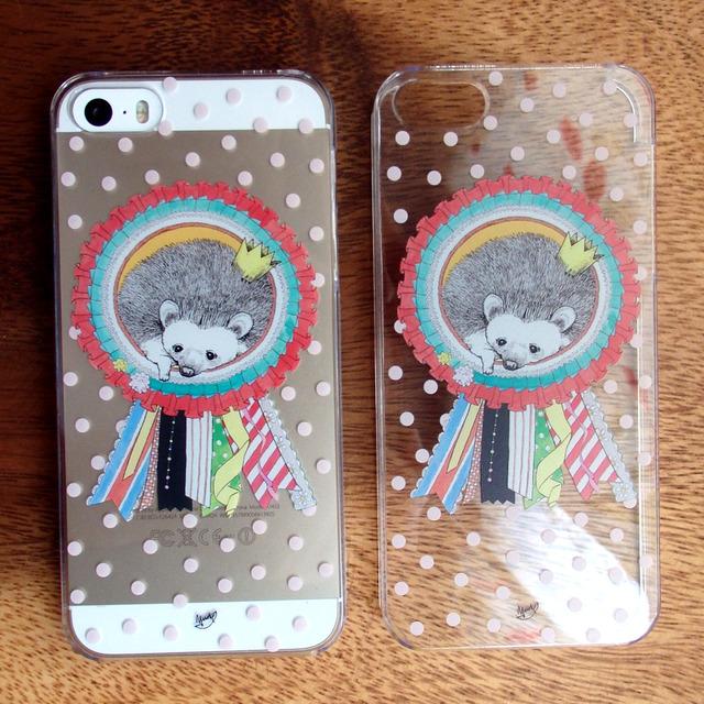 ハリネズミのiPhone5(s)ケース(ドット)
