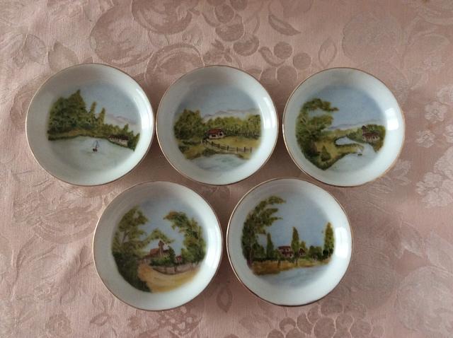 風景の小皿5枚