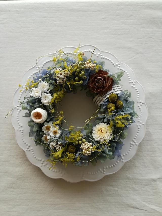 ライムグリーンのアンティーク Wreath