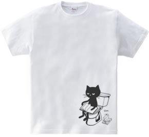 トイレとねこ 150.160(女性M.L) Tシャツ【受注生産品】