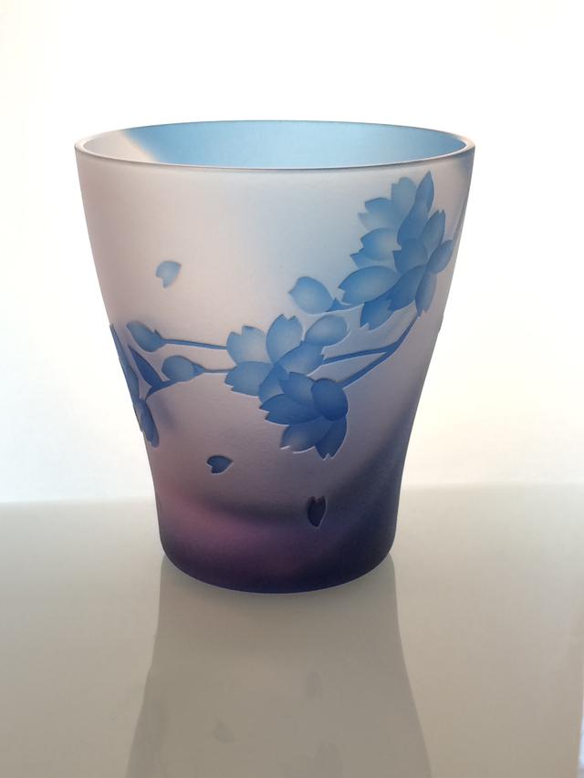 湖上の桜〜オールド(小)グラス