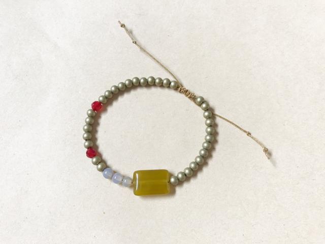 adjustable bracelet オリーブ