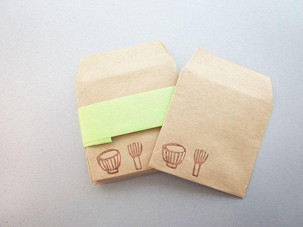 ナチュラルなぽち袋「茶道具」(ミニ)