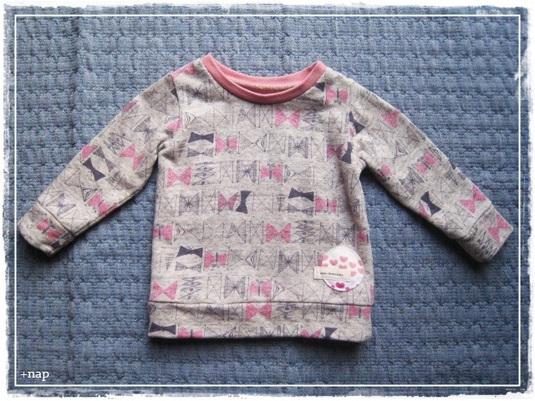 リボン&バタフライ長そでTシャツ(ピンク)