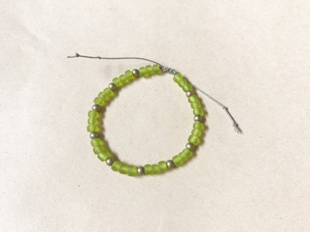 adjustable bracelet シーグラスグリーン