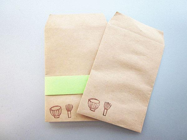 ナチュラルなぽち袋「茶道具」(ポチ)