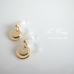 stardust disc earrings gold