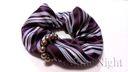 Pearl ring chouchou - Isabella -