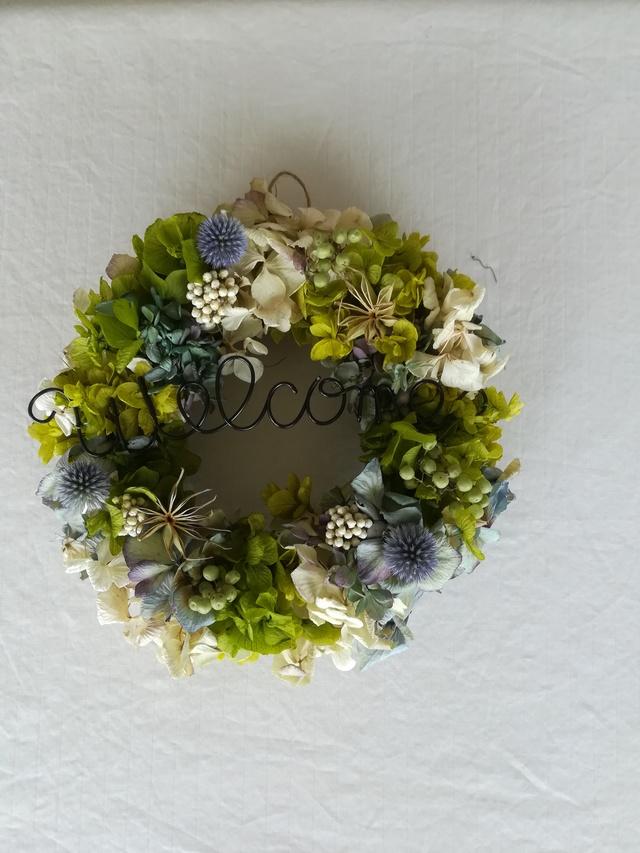 (k様オーダー)グリーンwelcome wreath