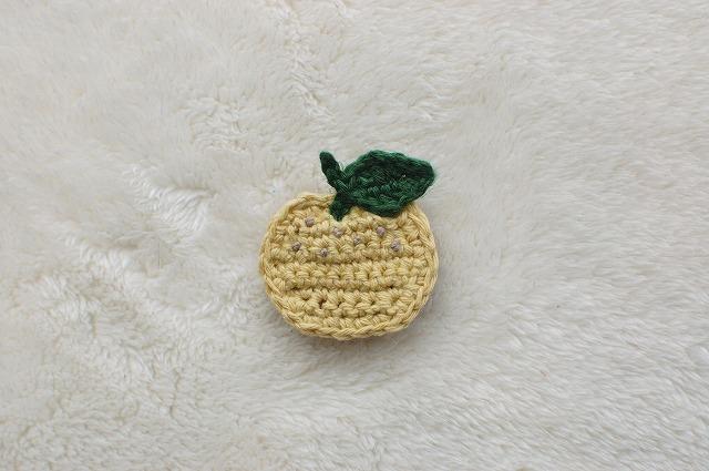 【fooh425さまリクエスト品】柚子ブローチ