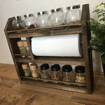 kitchen paper spice rack W41.8 H38