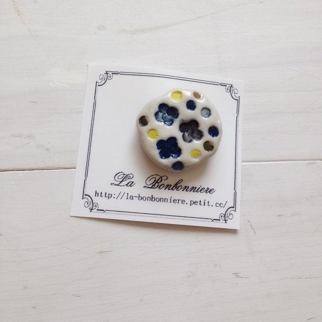 紫陽花ブローチ B