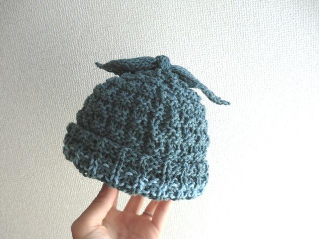 伸び〜るニット帽子 44〜52cm グリーン
