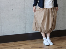 balloon skirt / sand beige ▷