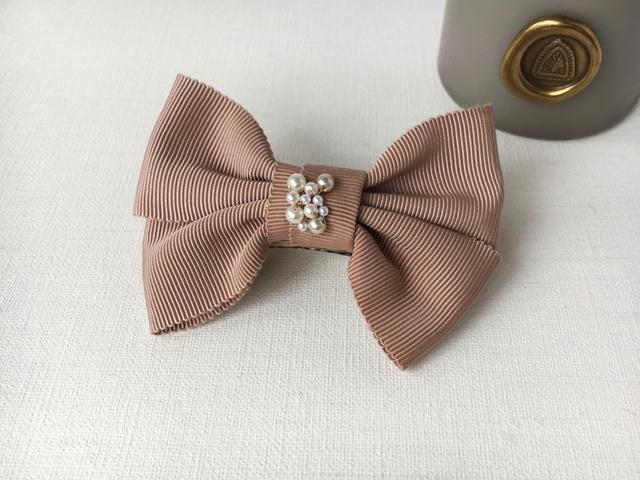 ピンク×パール バレッタ