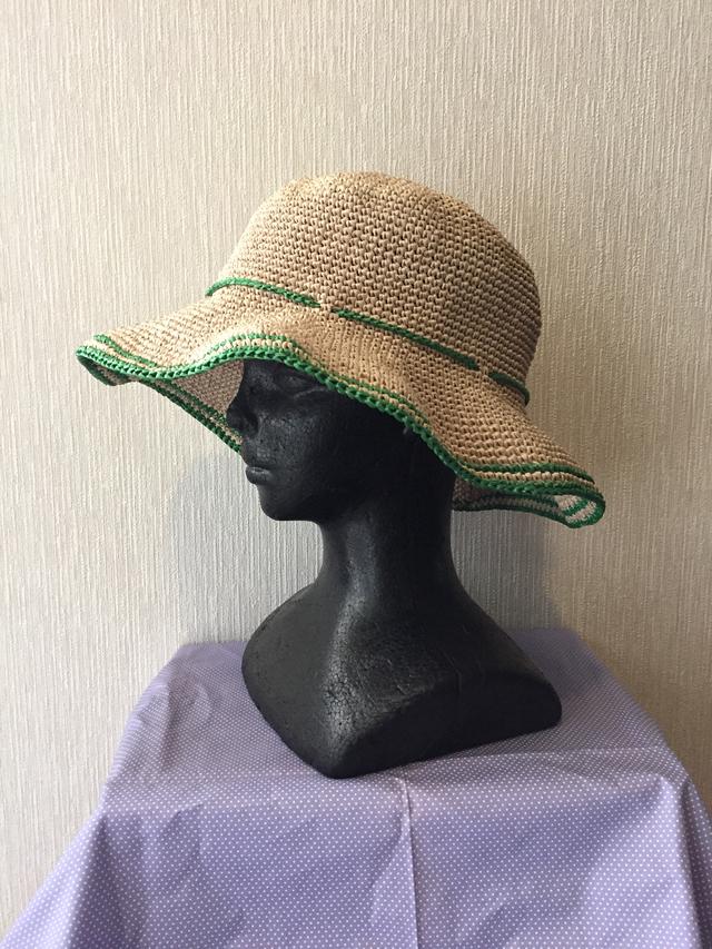 帽子A 縁色 緑