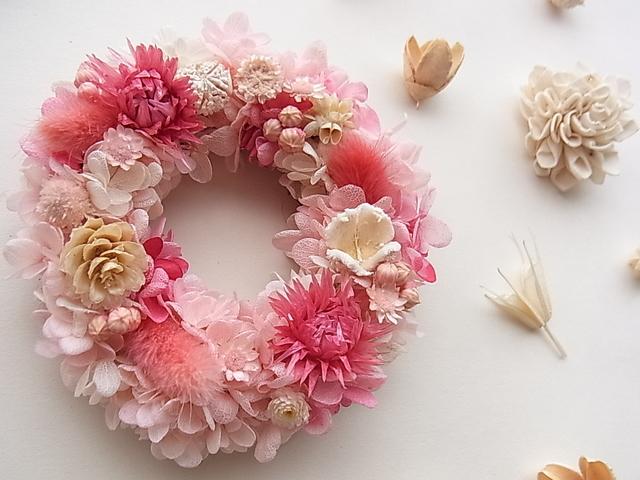 ミニリース  ホワイト&ピンク