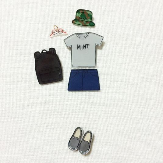 coordinate brooch / set2